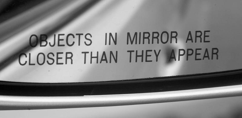 A rear view mirror